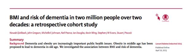 BMI and risk ofdementia